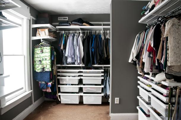 walk in closet renovation
