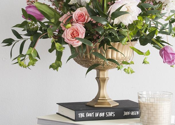 diy gold footed bowl