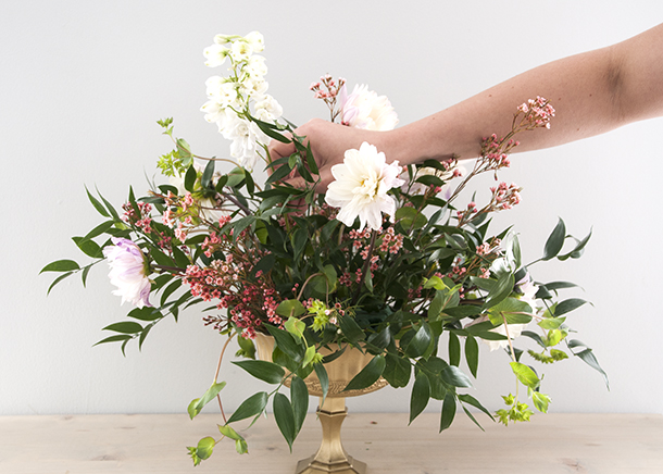 floral styling tall flower placement