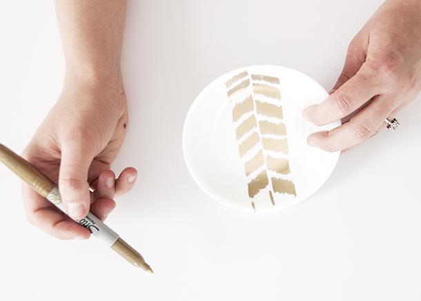 gold sharpie herringbone 3