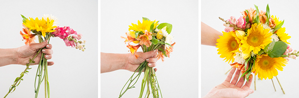 how to make a hand-tied bouquet 11