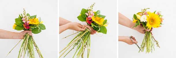 how to make a hand-tied bouquet 12