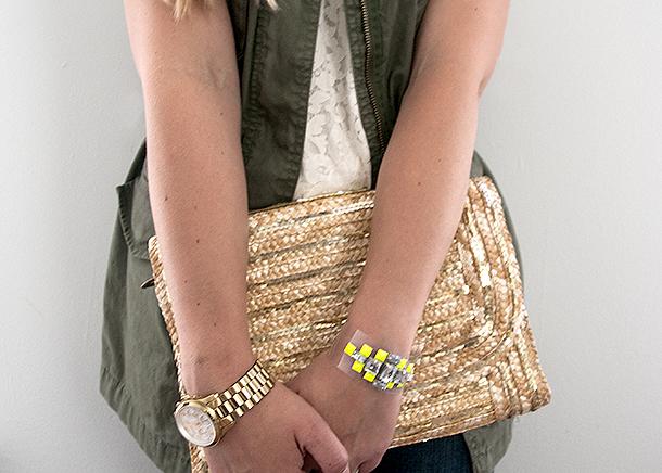 acrylic gem bracelet tutorial