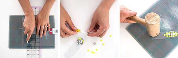 diy lucite gem bracelet workflow