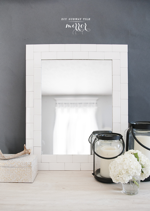diy subway tile mirror