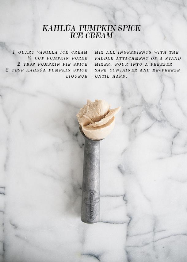kahlua pumpkin spice ice cream
