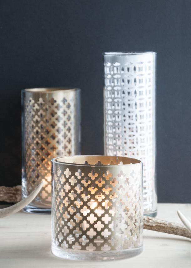 geometric lantern DIY