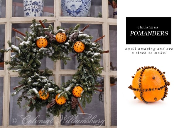 orange clove wreath