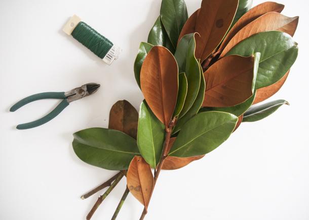 magnolia garland tutorial 1