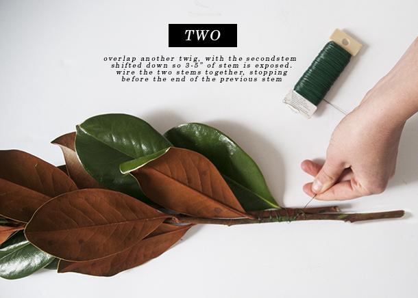 magnolia garland tutorial 3