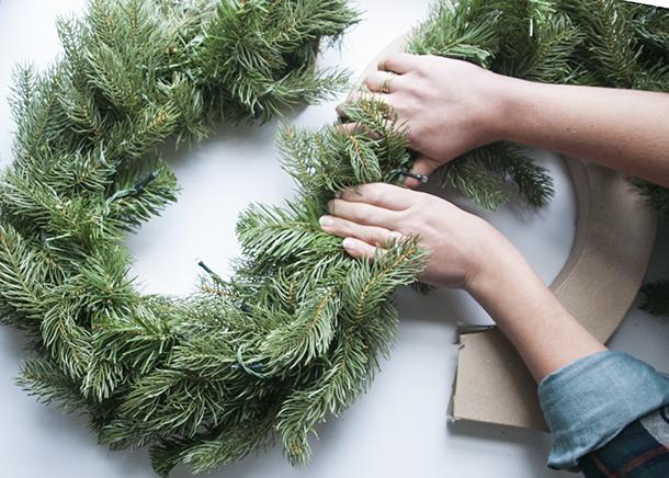 monogram wreath step 3