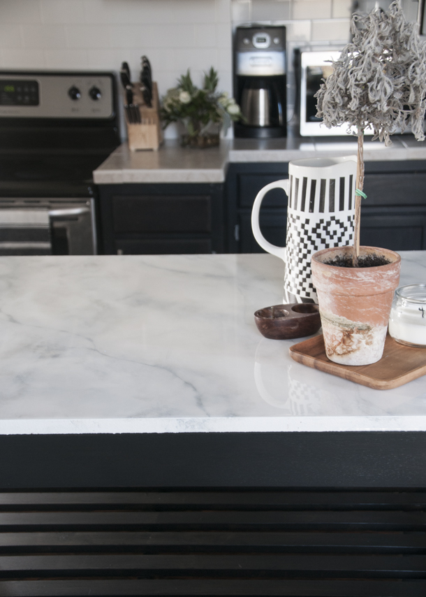 Faux Marble Countertops Diy Earnest Home Co