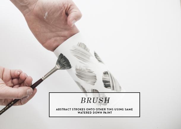 artsy brush stroke tea tins