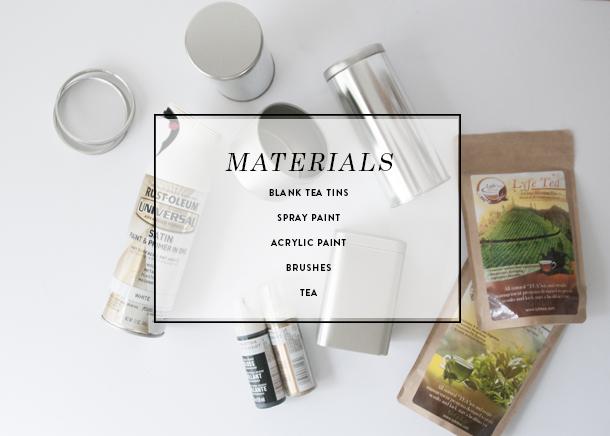 diy tea tins materials