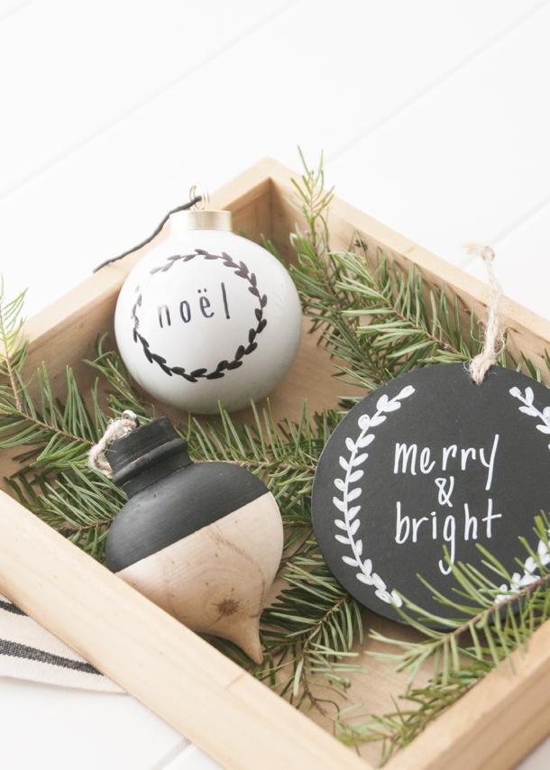 three christmas ornament diys