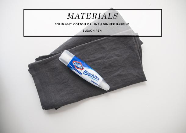 diy mudcloth pillow - materials