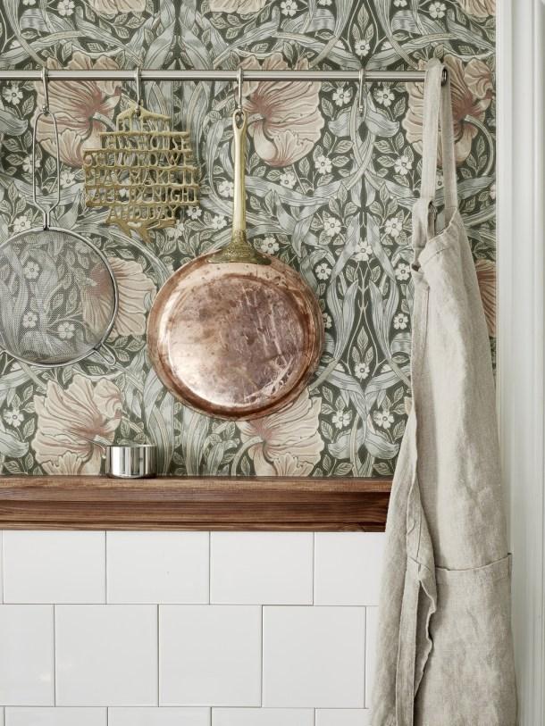 floral paper copper pan