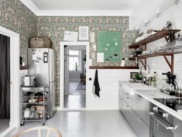 scandi floral kitchen