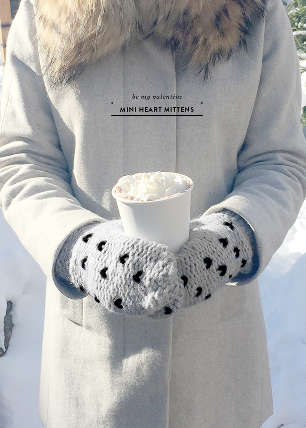 heart mittens knit easy