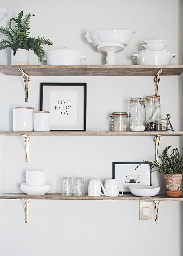 Kitchen Of The Week A Diy Ikea Country Kitchen For Two: How To Style Kitchen Open Shelving