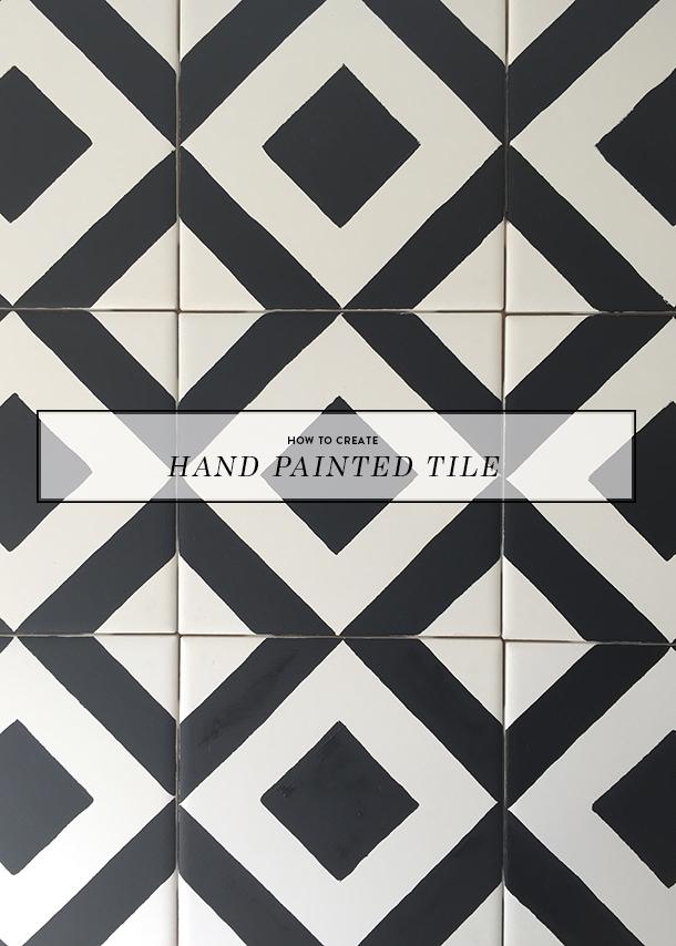 handpainted tile tutorial
