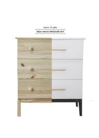 Before & After Ikea Tarva Dresser DIY - Earnest Home co.