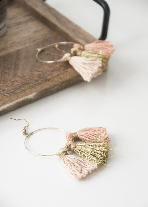 Diy Tassel Hoop Earrings By Erin Earnest Home