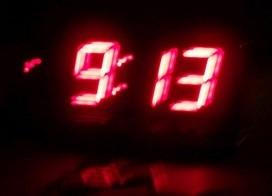 digital clock showing 9:13
