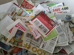 pile of clipped coupons