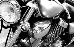 close up image of motorcycle engine