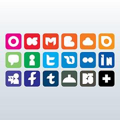 3 rows of social media logos