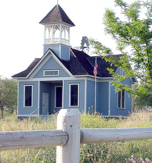 schoolhouse in rural setting