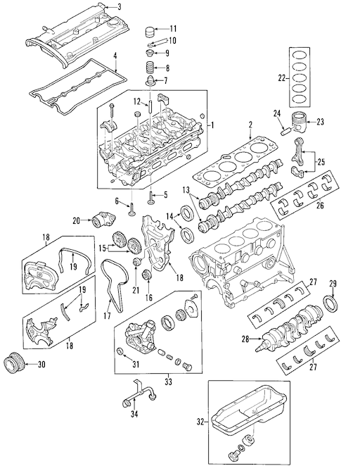 Engine Schematic Poster
