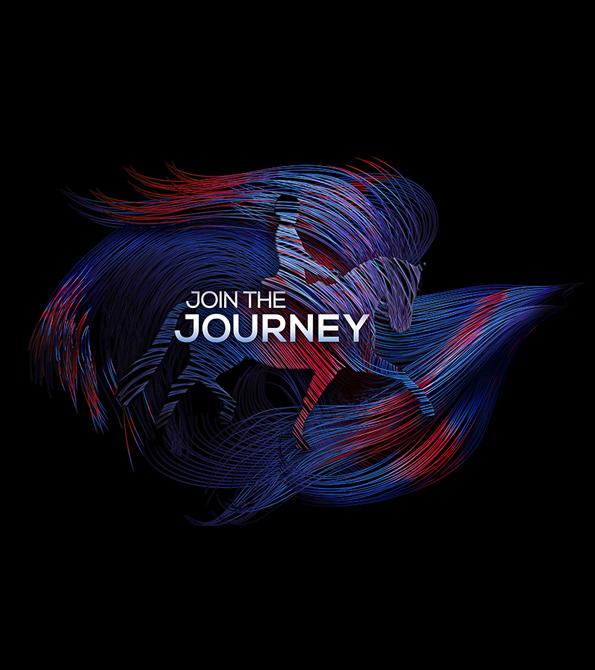 join the journey messaging with creative from campaign. Earnie creative design