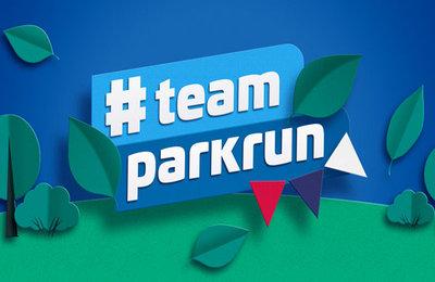 Team Parkrun logo and creative. Earnie creative design