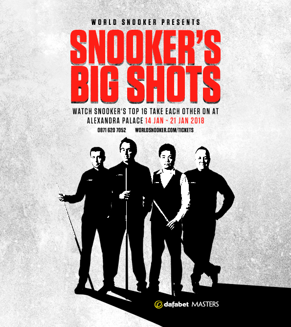 World Snooker Dafabet Masters portrait creative featuring Ronnie O