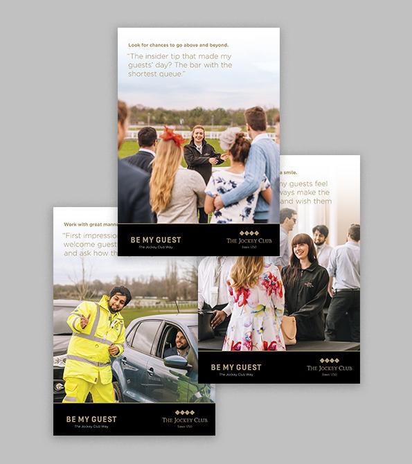Three Jockey Club Staff Engagement Programmes Creative. Earnie Creative Design