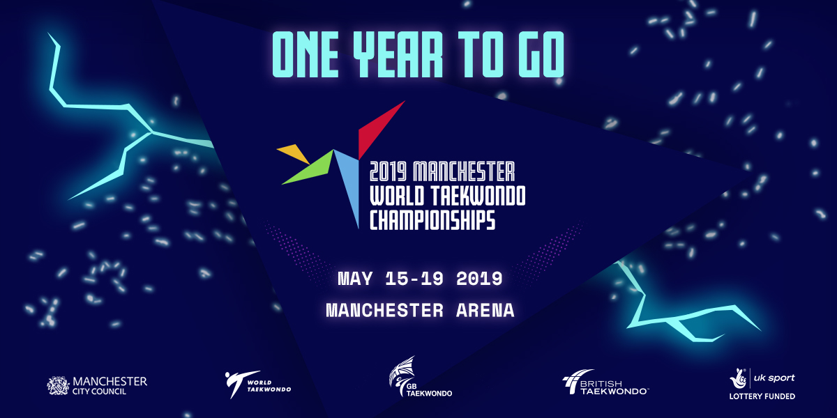 GB Taekwondo- World Championships ONE YEAR TO GO creative. Earnie creative design