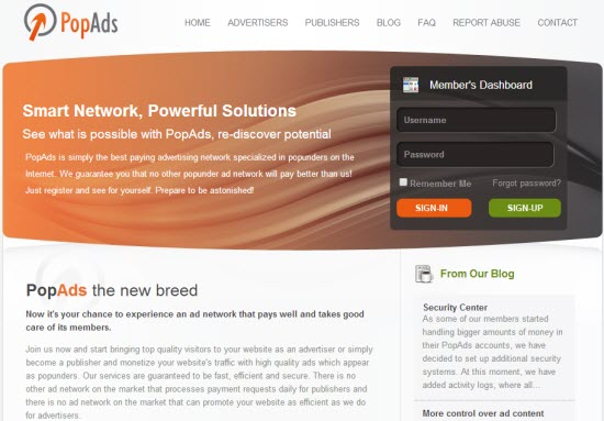 Pop-Under Ad Networks - PopAds