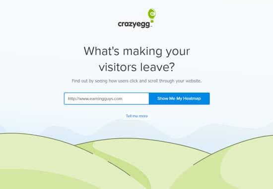 CrazyEgg Website Analytics Software