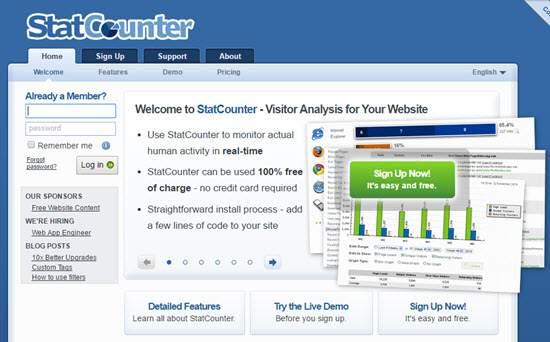 StatCounter Web Analytics Tool