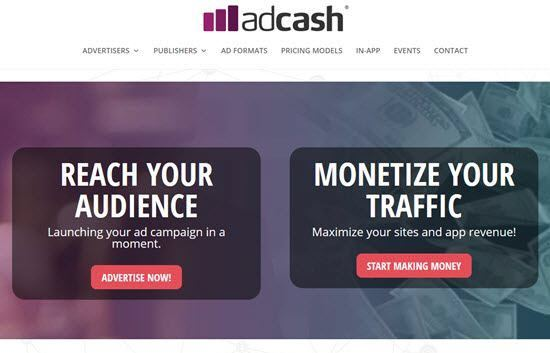adcash Pop-Under ad Network