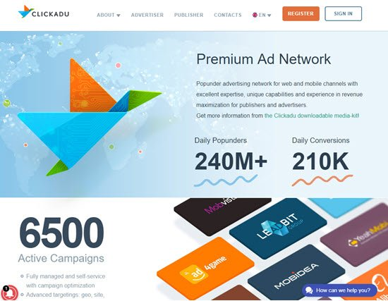 ClickAdu Ad Networks for Publishers