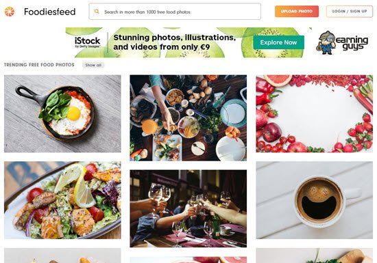 FoodiesFeed free images for blogs