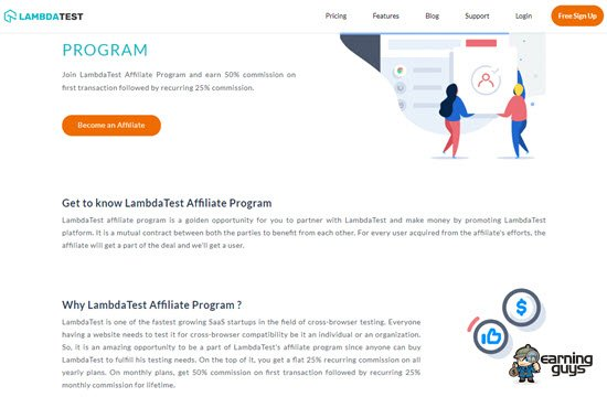 LambdaTest Referral Program