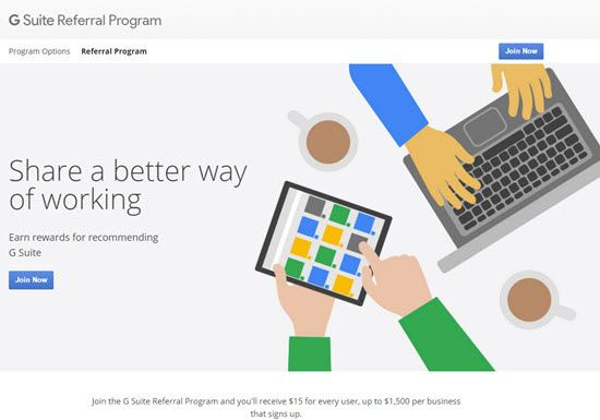 G Suite Referral Program