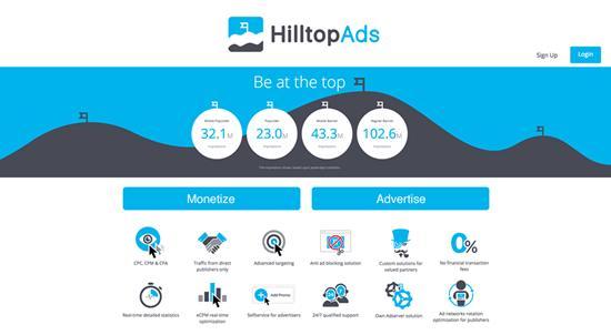 HilltopAds AdSense Alternative