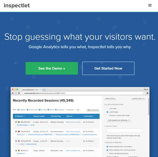 Inspectlet Heat Map Tools