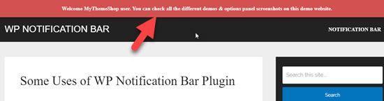 Notification Bar