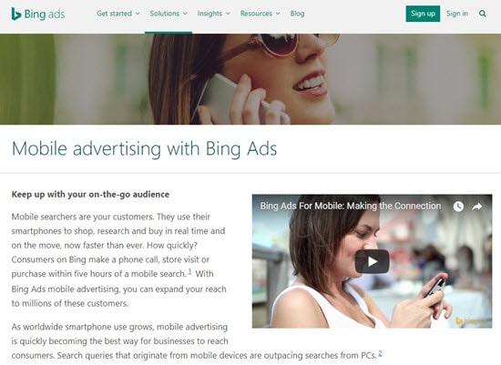 Bing Mobile Advertising